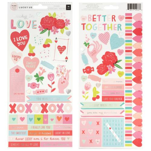 Pink Paislee - Lucky Us 6x12 Cardstock Stickers (76 Piece)