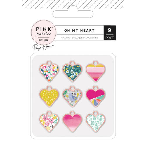 Pink Paislee - Paige Evans Oh My Heart Charms