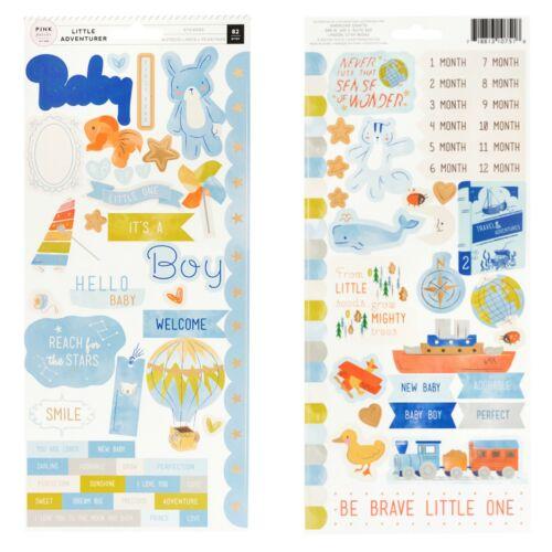 Pink Paislee - Little Adventurer 6x12 Cardstock Sticker - Boy (80 Piece)