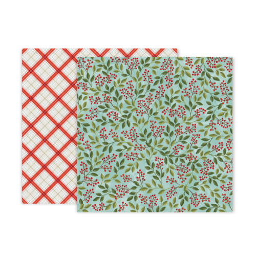 Pink Paislee - Together For Christmas 12x12 Patterned Paper - 9