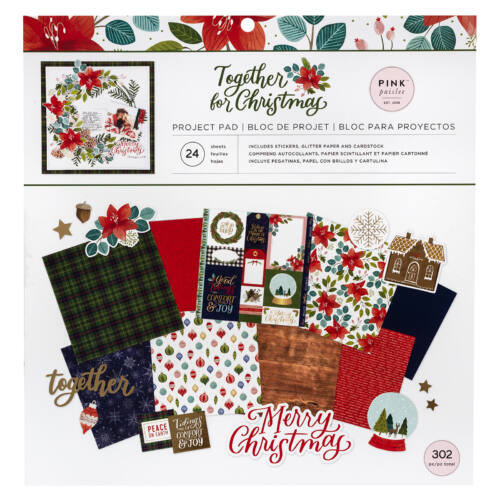 Pink Paislee - Together For Christmas12x12 Project Pad