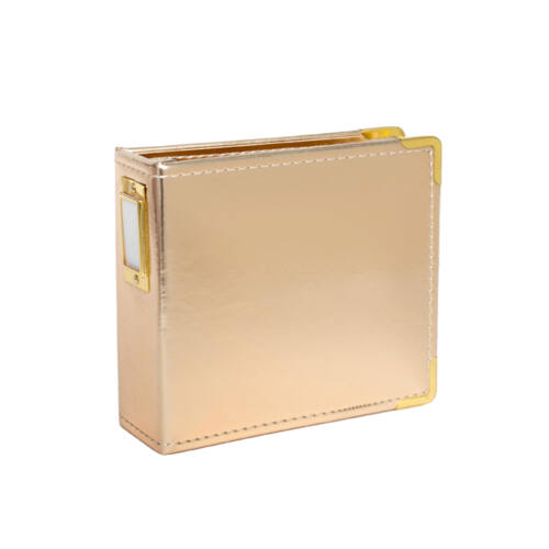 Studio Calico Handbooks 4 x 4 Faux Leather - Gold