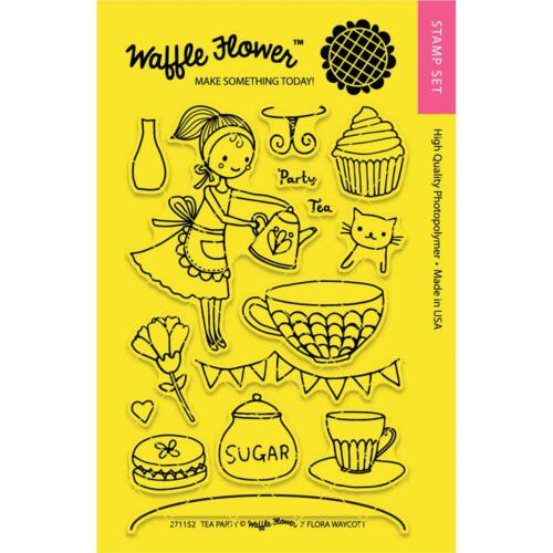 Waffle Flower Clear Stamp - Tea Party