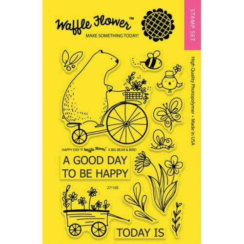 Waffle Flower Clear Stamp - Happy Day
