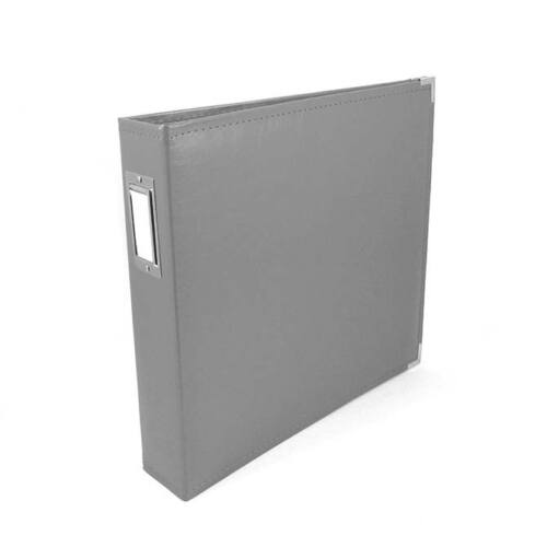 We R Memory Keepers 12x12 Classic Leather Album - Charcoal