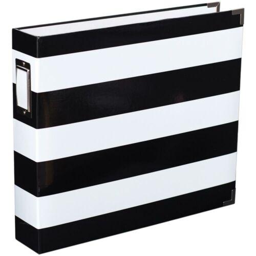 Becky Higgins - Project Life - 12 x 12 Album Black & White Stripe By Heidi Swapp