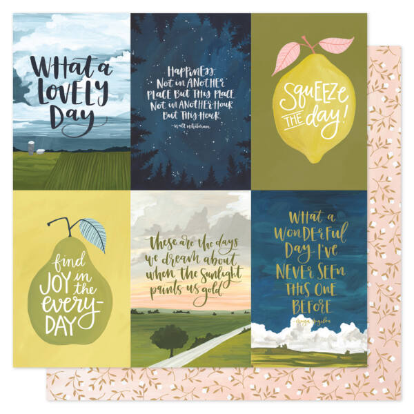 1Canoe2 - Goldenrod 12x12 Patterned Paper -  Golden Quotes