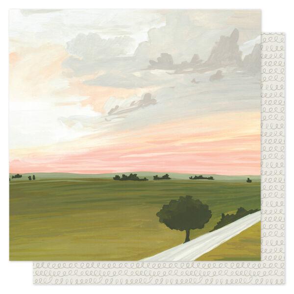 1Canoe2 - Goldenrod 12x12 Patterned Paper -  Summer's Trails