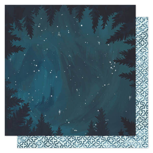 1Canoe2 - Goldenrod 12x12 Patterned Paper -  Midnight Forrest