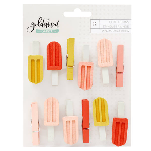 1Canoe2 - Goldenrod Clothespins (12 Piece)
