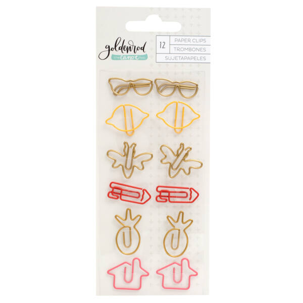 1Canoe2 - Goldenrod Shape Paper Clips (12 Piece)