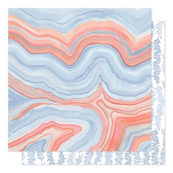 1Canoe2 - Twilight 12x12 Patterned Paper -  Twilight Marble