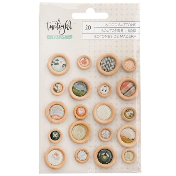 1Canoe2 - Twilight Epoxy Wood Buttons