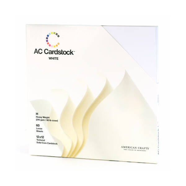 American Crafts - Variety Pack 60 White Cardstock