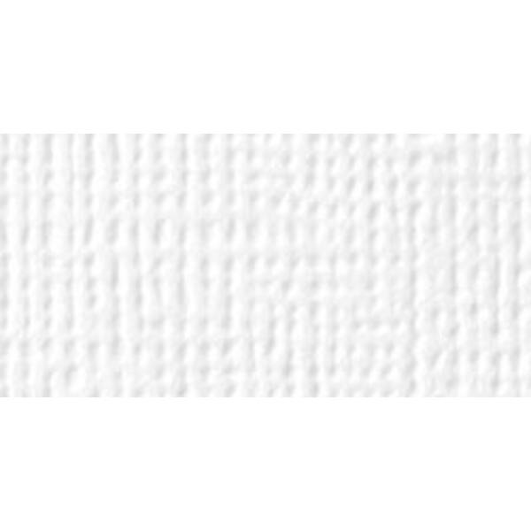 American Crafts 12 x 12 Textured Cardstock -White