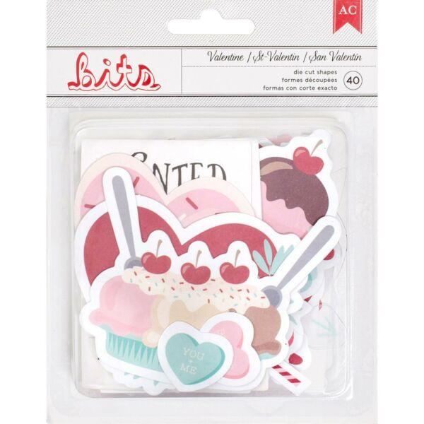 American Crafts Valentine Ephemera Die Cut