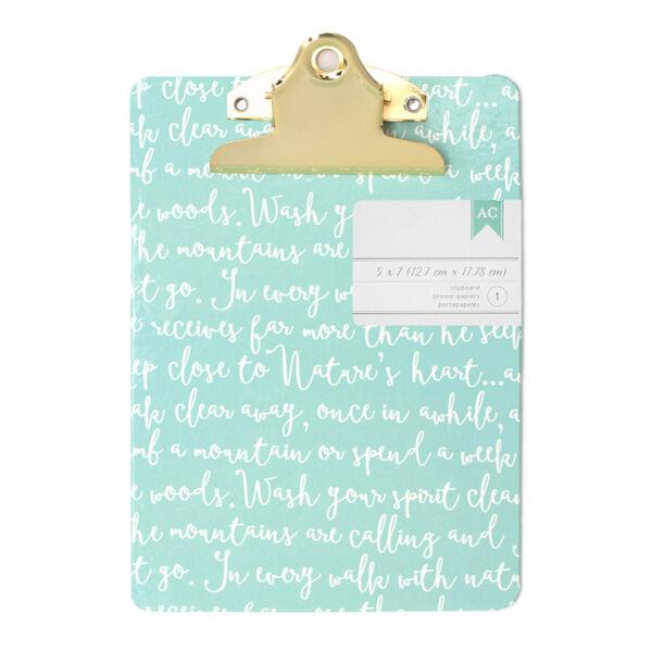 American Crafts Mini Clipboard - Script