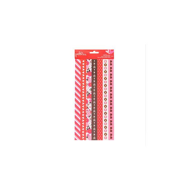 Pebbles My Funny Valentine Washi Tape Strips