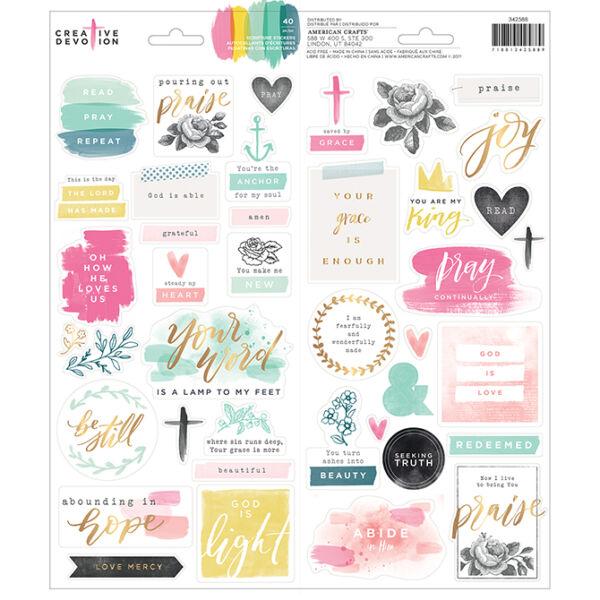 American Crafts - Creative Devotion 6x12 Clear Sticker