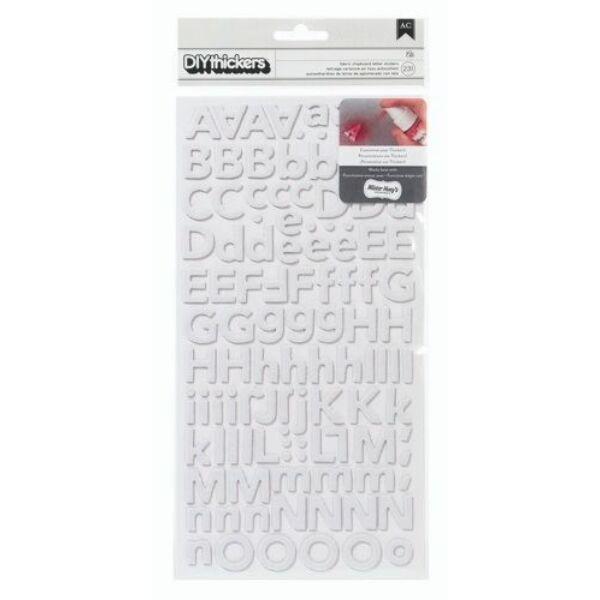 American Crafts Ali fehér betűmatrica