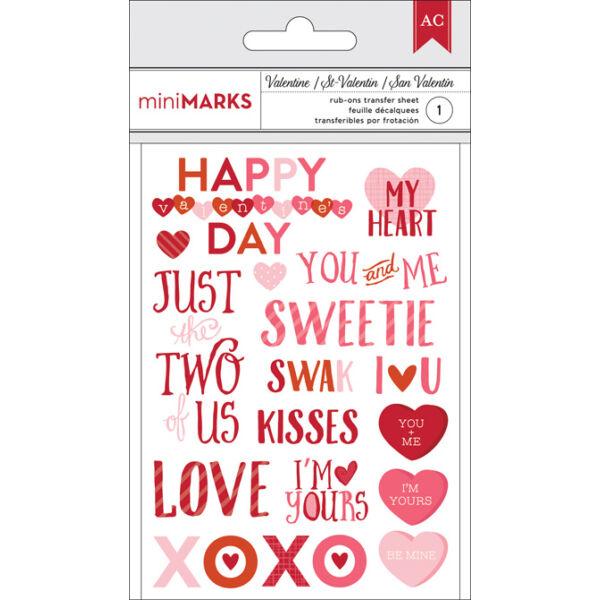 American Crafts Valentine Rub-Ons