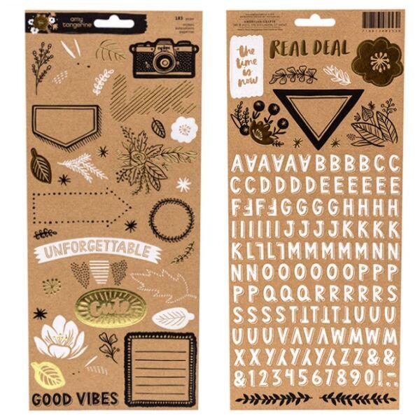 Amy Tangerine - Shine On 6x12 Kraft Stickers
