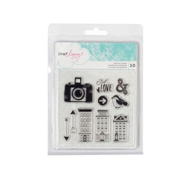 Dear Lizzy - Saturday Clear Acrylic Stamp Set