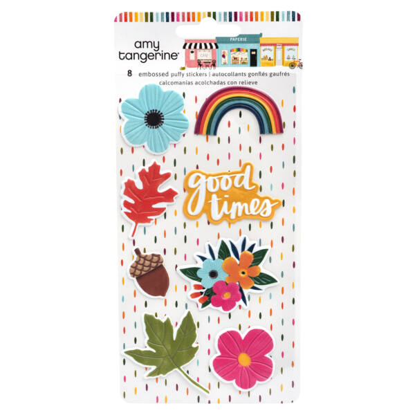 American Crafts - Amy Tangerine - Slice of Life Embossed Puffy Stickers (8 Piece)