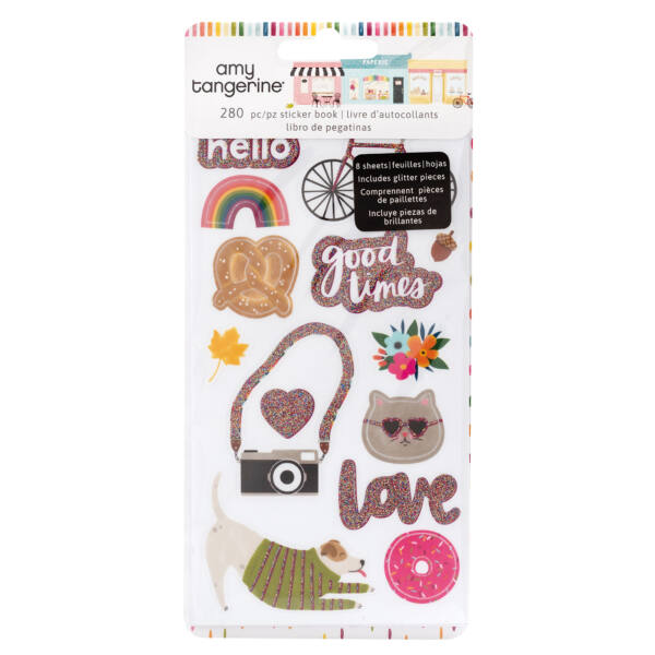 American Crafts - Amy Tangerine - Slice of Life Sticker Book (280 Piece)