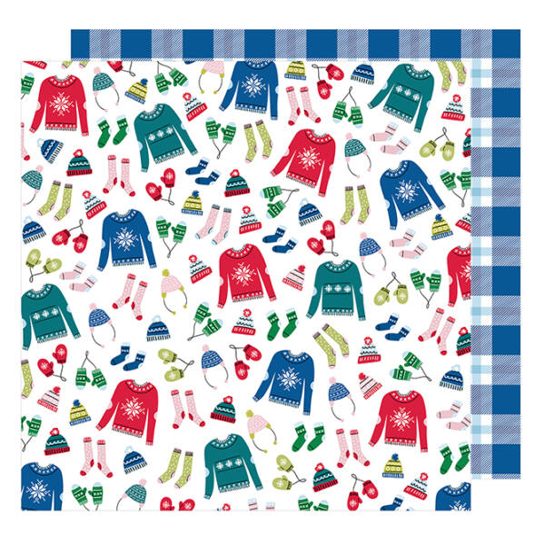 American Crafts - Sweater Weather 12x12 Paper - Bundle Up