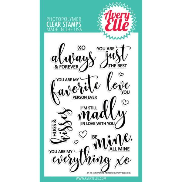 Avery Elle Clear Stamp - Favorite Person