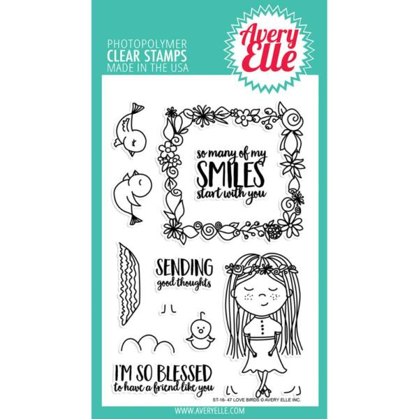Avery Elle Clear Stamp - Love Birds