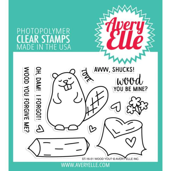 Avery Elle Clear Stamp - Wood You