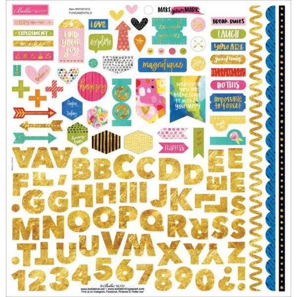 Bella BLVD - Make Your Mark 12x12 Cardstock Stickers