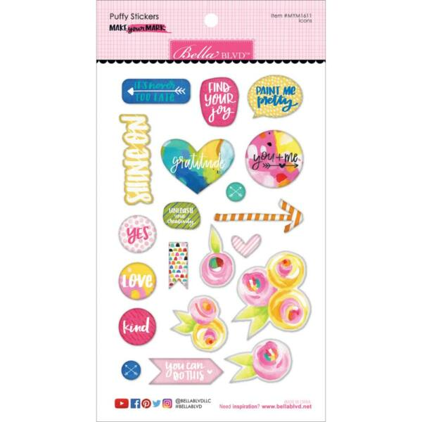 Bella BLVD - Make Your Mark Puffy Stickers