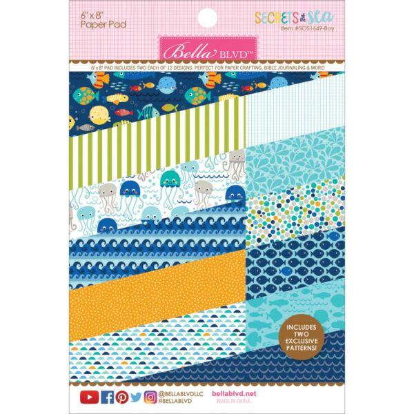 Bella Blvd - Secrets of the Sea Boy 6 x 8 Paper Pad