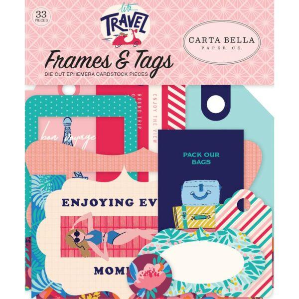 Carta Bella - Let's Travel Ephemera Die-Cuts (33 Piece)