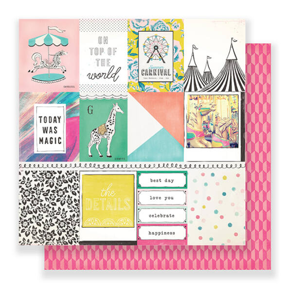 Crate Paper - Maggie Holmes Carousel 12x12 Paper - Carnival