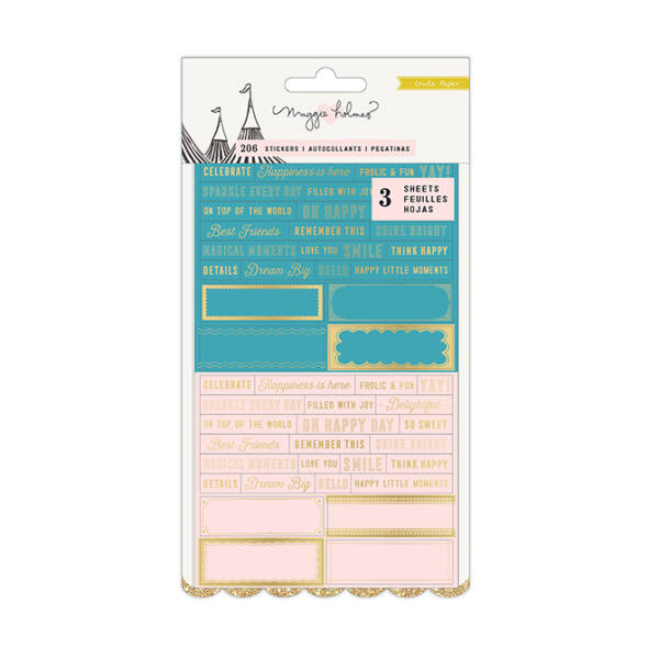 Crate Paper - Maggie Holmes Carousel Clear Stickers