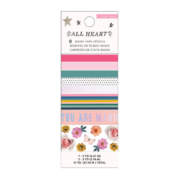 Crate Paper - All Heart Washi Tape Set (9 Piece)