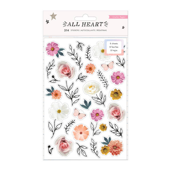 Crate Paper - All Heart Sticker Book (314 Piece)