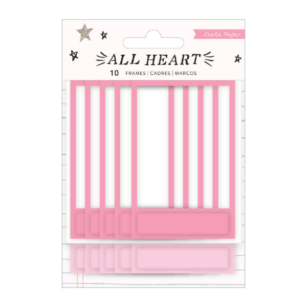 Crate Paper - All Heart Puffy Frames (10 Piece)