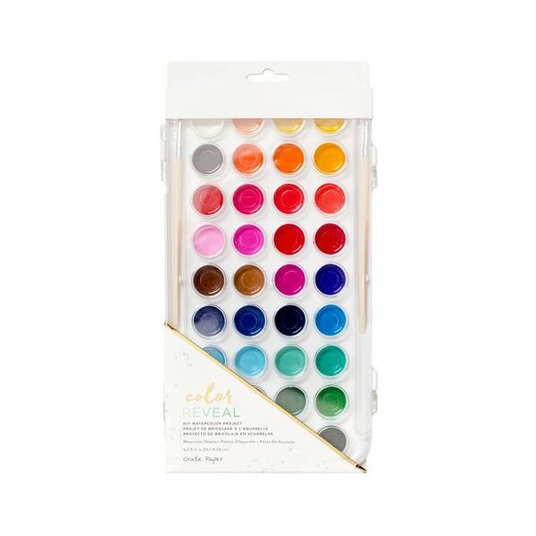 Crate Paper - Color Reveal Watercolor Set - 36 Colors