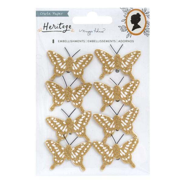 Crate Paper - Maggie Holmes - Heritage Butterflies (8 Piece)