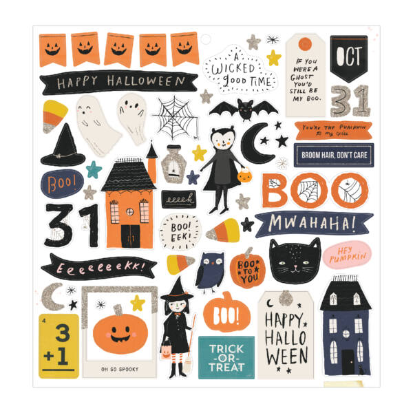 Crate Paper - Hey, Pumpkin 12x12 Chipboard Sticker (64 Piece)