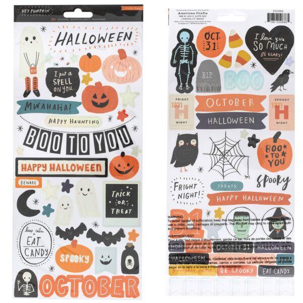 Crate Paper - Hey, Pumpkin 6x12 Cardstock Stickers (103 Piece)