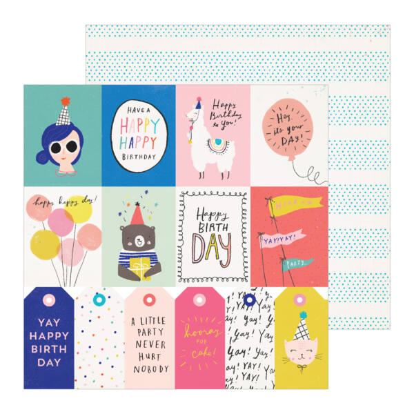 Crate Paper - Hooray 12x12 Patterned Paper -  For You