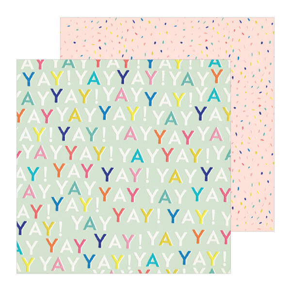 Crate Paper - Hooray 12x12 Patterned Paper -  Yay