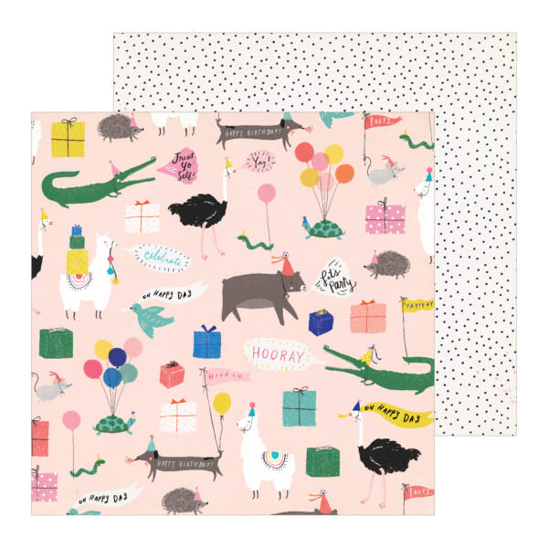Crate Paper - Hooray 12x12 Patterned Paper -  Party