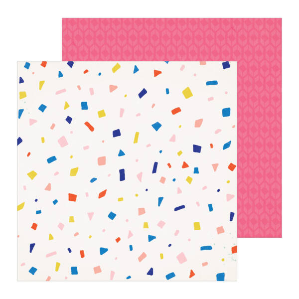Crate Paper - Hooray 12x12 Patterned Paper -  Confetti